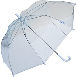 RainStoppers W103CHC 34-Inch Children's Plastic Umbrella, Clear