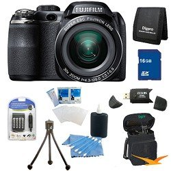 Fujifilm FinePix S4500 30x Optical Zoom 14 MP 3 inch LCD Digital Camera 16 GB Bundle