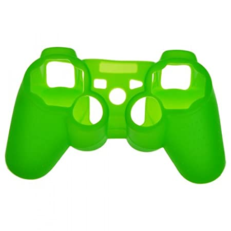 EarlyBirdSavings Brand New Silicone Skin Case Combo for Sony Playstation PS3 Controller Green