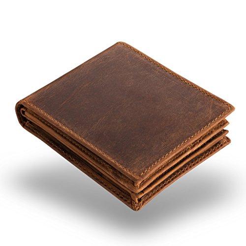 A.P. Donovan - Portafoglio in pelle per gli uomini - Paesaggio (titolare della carta di credito) - piatto - portafoglio con piccolo taschino