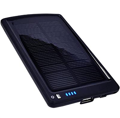 Opteka BP-SC4000 Ultra Thin Solar Powered High Capacity (4000mAh) Backup Battery and Charger for Cell Phones, iPhone, iPod, and Most USB Powered Devices from Opteka