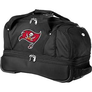 NFL Denco 22-Inch Drop Bottom Rolling Duffel Luggage, Black by Denco