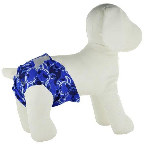 PlayaPup Dog Diaper Cover, Sky Blue, Medium