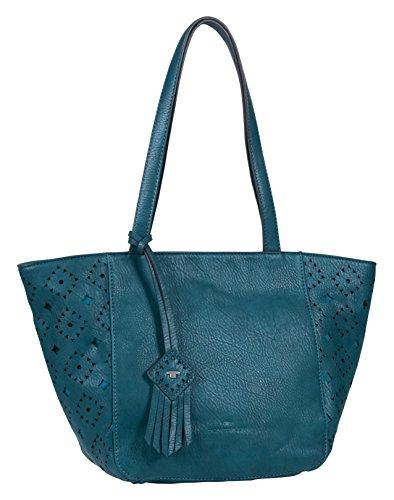 Tom Tailor AccVIOLA - Borsa shopper Donna , Blu (Blau (petrol 36)), 44x25x13 cm (B x H x T)