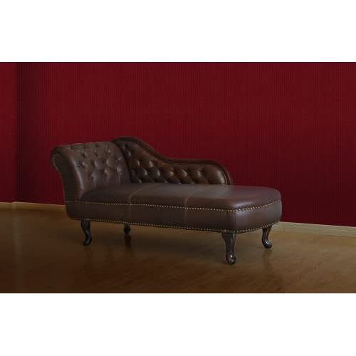 Chesterfield Recamiere Chaiselongue Lounge Chaise Sofa Leder