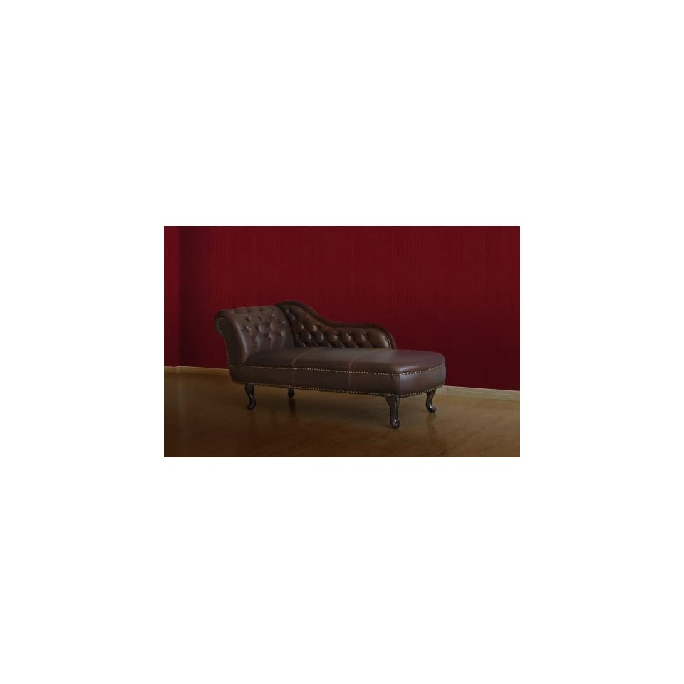 Chesterfield Recamiere Chaiselongue Lounge Chaise Sofa Leder: