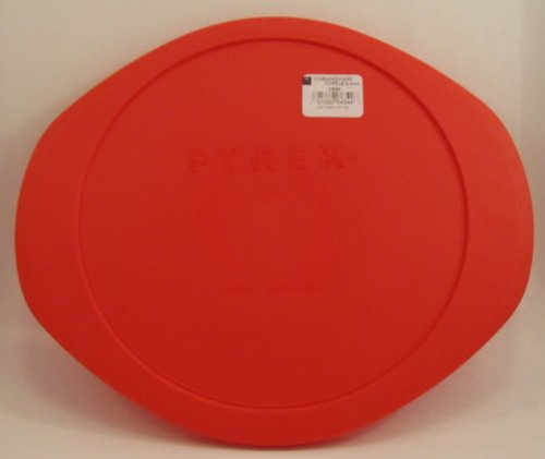 Pyrex Red Plastic Lid for 2 Qt Round Baking Dish