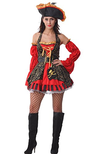 AvaCostume Womens Robber Outfits Spanish Pirate Adult