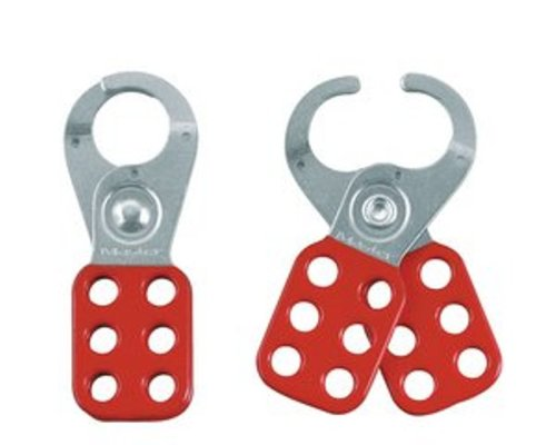 """Master Lock Lockout Hasp with Vinyl Coated Handle, 1-1/2"""" Inside Jaw Diameter"""