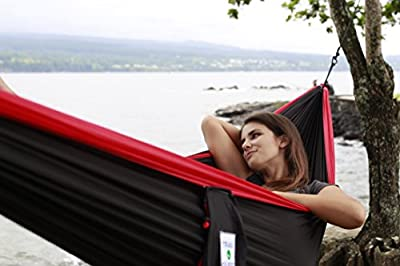 Trail Quest Hammock. Best Hammocks for Camping, Sports Outdoors, Backpack, Hiking, Hunting, Travel. Patio Furniture, Lifetime Warranty