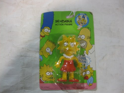 The Simpsons Lisa Simpson Bendable Figure - 1