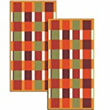 Dyckhoff 699932200 2-Piece Hand Towel Set 50 x 100 cm Chequer Chestnut