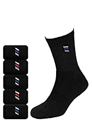 5 Pairs of Cotton Rich Diagonal Striped Sports Socks with Stay New™ Technology