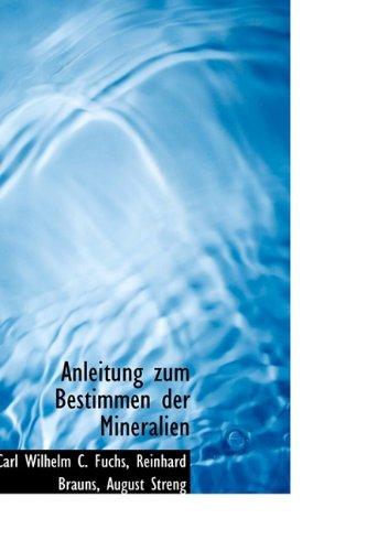 Anleitung zum Bestimmen der Mineralien