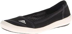 Adidas Women's Boat Slip-On Sleek Water Shoes - Black/ Chalk/ Dark Shale 10.5