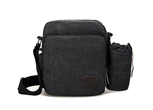 1 x Canvas Bag for Men - Retro Casual Shoulder Bag / Multifunctional Haversack / Sport Crossbody Bag