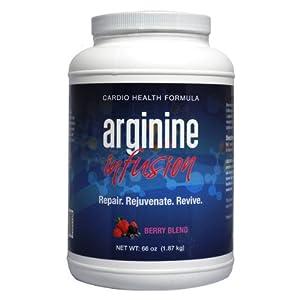 L-Arginine Infusion Jumbo Jar 66 oz = 6 Jars 29.99 a Jar Natural Formula for Cardio Health (5,000mg L-arginine & 1,000mg L-citrulline Per Serving)