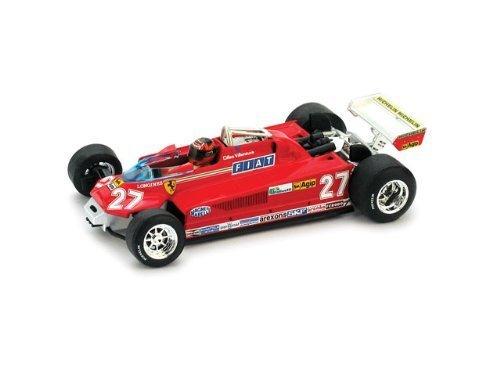 フェラーリ 126 CK ターボ (57周-63週目) #27 J.ビルヌーヴ (1/43 R438CH)