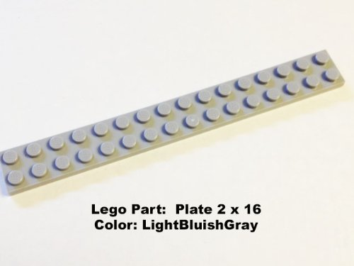 Lego Parts: Plate 2 X 16 (Lbgray) back-904188