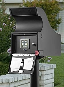 SecureLogic 20302 Black Secure Mail Vault Locking Mailbox