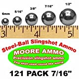 121 pack 7/16' Steel-Ball slingshot ammo (1-1/2 lbs)