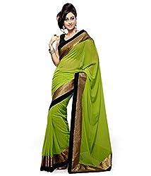 Sheesha Women's Georgette Green Madhuri Saree