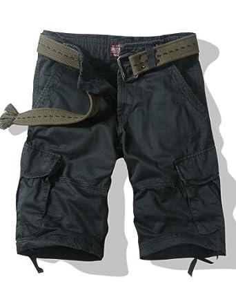 Match Men's Thin Fabric Cargo Shorts(3596 Dark gray,US38 (Label Size 4XL/40))