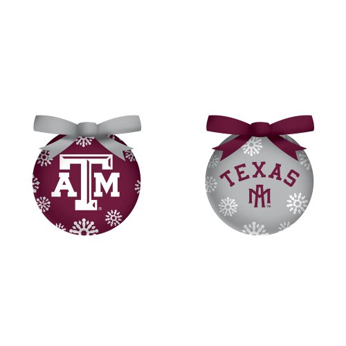 Texas A&M Boxed Led Ornament Set
