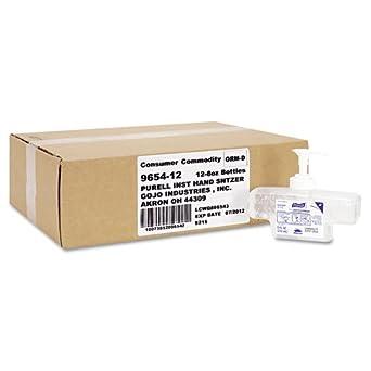 PURELL 9654-12 Advanced Instant Hand Sanitizer Refill, 8 fl. oz. Refill Pump Bottle (Case of 12)