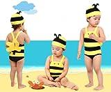 我が子 が 愛くるしい ミツバチ に 変身! かわいい キッズ 水着!!  耳栓 ・ 防水 スマホ ケース 付