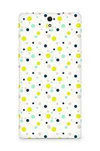 Amez designer printed 3d premium high quality back case cover for Sony Xperia C5 (Colourful Dots Pattern)