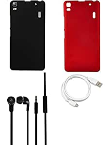 NIROSHA Cover Headphone / Hands Free USB Cable for Lenovo A7000 - Combo