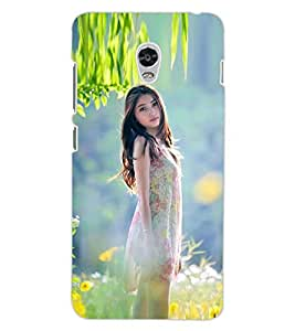 ColourCraft Beautiful Girl Design Back Case Cover for LENOVO VIBE P1