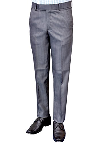 Euro-Style-Popular-Grey-Formal-Trouser-Comfort-Fit
