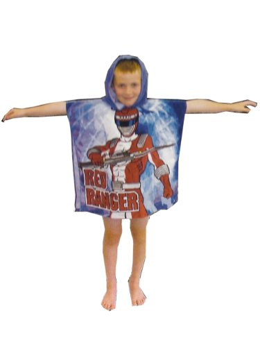 Power Rangers Kids Children Hooded Poncho Towel