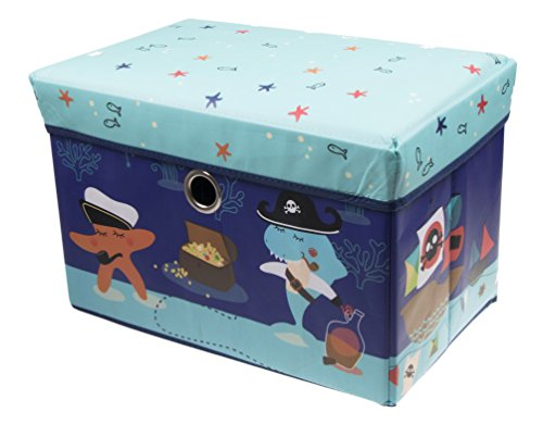 Underwater Pirate Collapsible Cushion-topped Organizer - Blue (Pirate Containers compare prices)