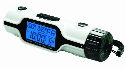 Tech Tools PI-810 World Time Travel Alarm Clock with Flashlight