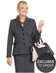 Twiggy for M&S Collection Metallic Effect Tweed Jacket with Wool