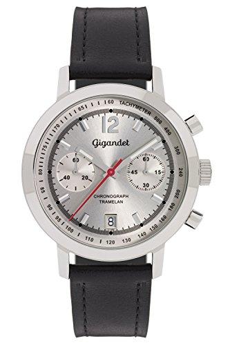 Gigandet Tramelan Orologio da Uomo Quarzo Cronografo Analogico Data Nero Argento G10-001