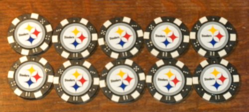 Pittsburgh steelers poker chips