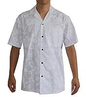 Hawaiian Men's White Wedding Shirt