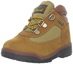 Timberland Leather and Fabric Field Boot (Toddler/Little Kid/Big Kid),Sundance,4.5 M US Big Kid