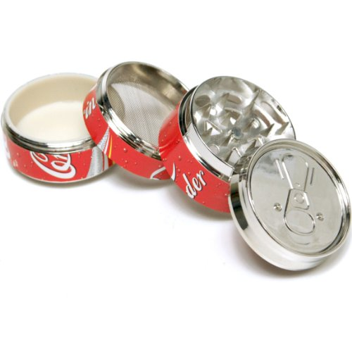 Coke Pop CAN 2 ,Super Mini tobacco Herb Grinder,4 Parts, by