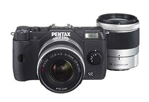 Pentax Q10 Kit compact hybride 12,4 Mpix Noir + Objectif 5-15 mm f/2.8-4.5 + 15-45 mm f/2.8