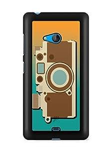 YuBingo Vintage Camera Designer Mobile Case Back Cover for Microsoft Lumia 540