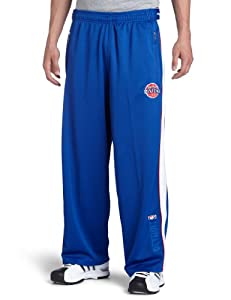 NBA Detroit Pistons Royal Blue Digital Single-Zip Pant by Zipway