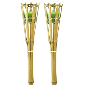 Candlewind Citronella Wax Filled Garden Bamboo Candles (pack of 2) from Portable Fridge