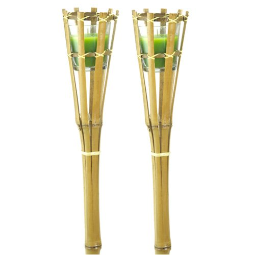 Candlewind Citronella Wax Filled Garden Bamboo Candles (pack of 2)