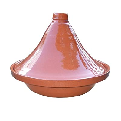 Traditional Tagine Tajine - 33cm 46 Person - Natural Terracotta Colour by Naturally Med