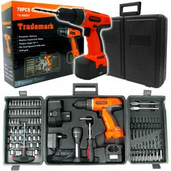 78 Pc 18 Volt Cordless Drill Set many extras. Product Category: Hardware > Power Tools&#8221; title=&#8221;enlarge&#8221; /></div>